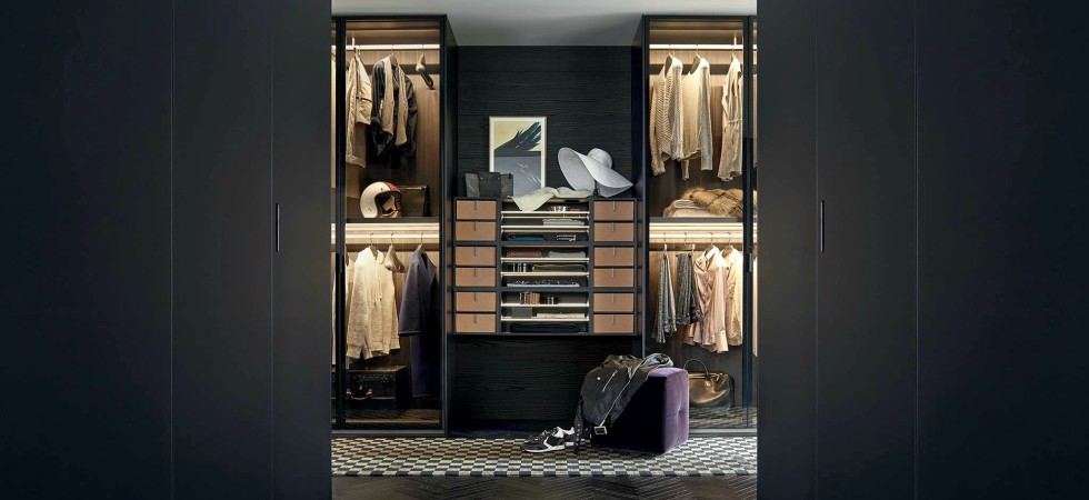 LEEM Wonen Poliform inloopkast walk-in closet