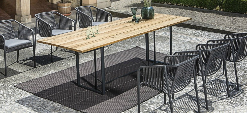 LEEM Wonen outdoor trends Fischer Möbel dining set