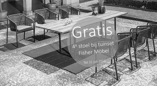 Fisher Mobel gratis stoel verlopen