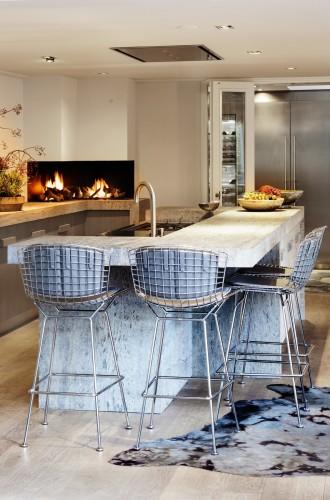 Jeroen Bos Design maatwerk keuken bar openhaard