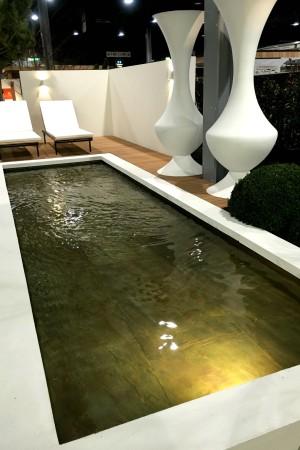 LEEM Wonen Beurs Eigen Huis exposanten Arie Tuinarchitectuur Aangenaam XL tuinvazen zwemvijver