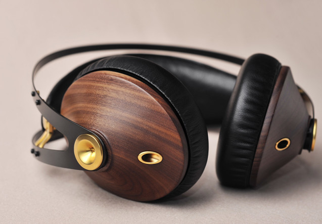 LEEM Wonen headphones Walnut Silver Meze 99 Classics Dune Blue