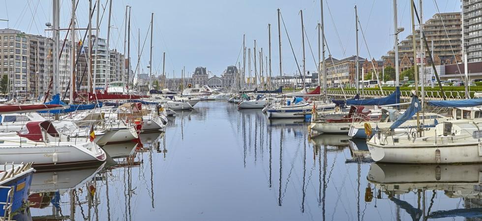 Belgische kust De Haane haven