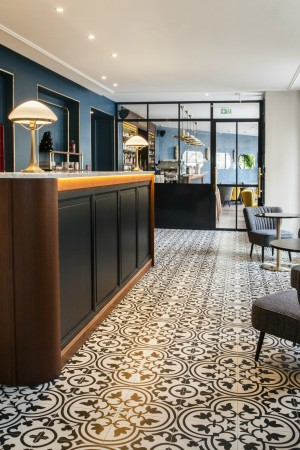 LEEM Wonen hotel in Parijs Andre Latin lounge