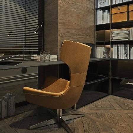 LEEM Wonen chic appartement bureaustoel