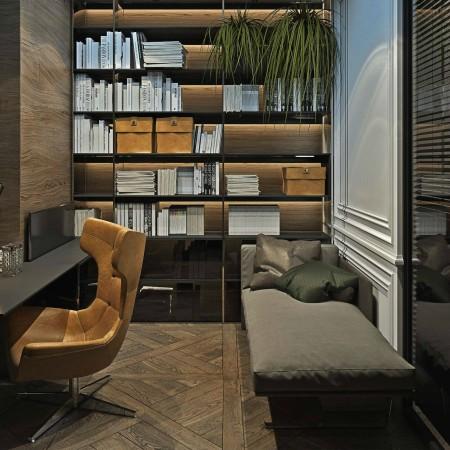 LEEM Wonen chic appartement studeerkamer