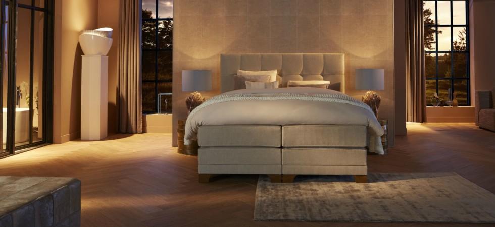 LEEM Wonen luxe bedden Diks Bedmakers Sereno front