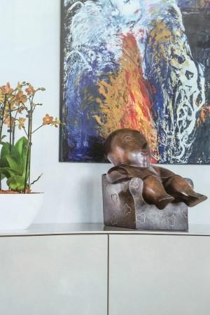 LEEM Wonen beeldhouwwerk Odile Kinart kunst