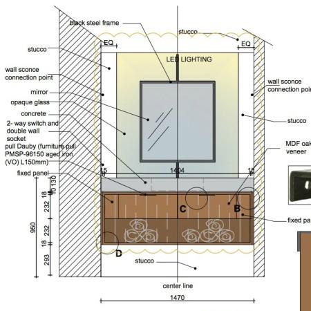 LEEM Wonen Roelfien Vos Interior Designer tekening
