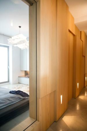 LEEM Wonen loft Amsterdam houten wand