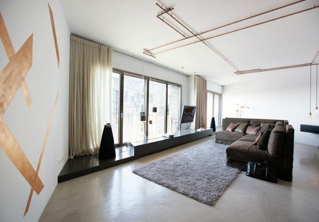 LEEM Wonen loft Amsterdam woonkamer