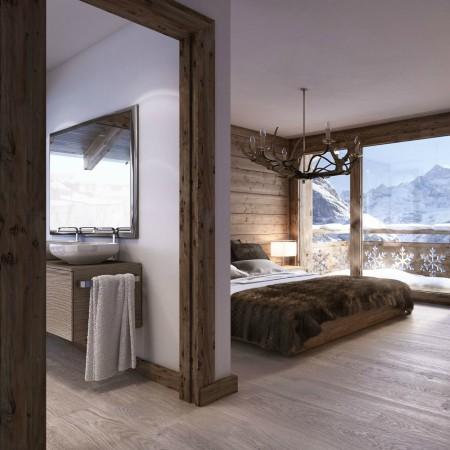 LEEM Wonen gletsjer dorpje Grindelwald bedroom