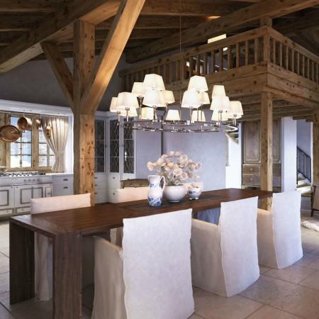 LEEM Wonen gletsjer dorpje Grindelwald diningroom
