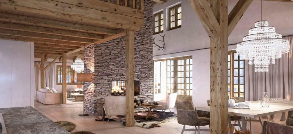 LEEM Wonen gletsjer dorpje Grindelwald livingroom