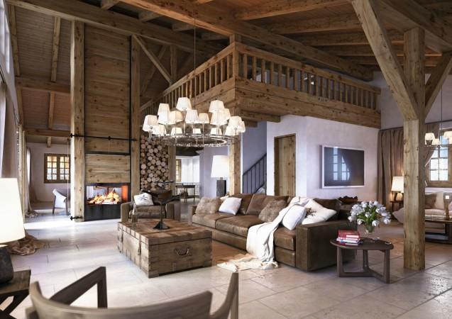 LEEM Wonen gletsjer dorpje Grindelwald woonkamer