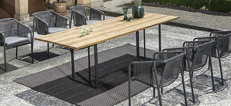 LEEM Wonen outdoor trends Fischer Möbel dining set