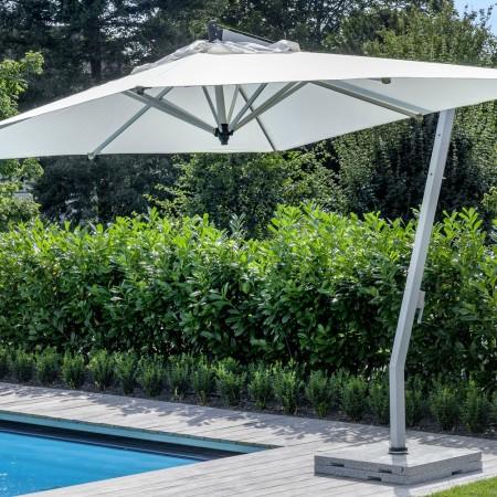 LEEM Wonen outdoor trends Fischer Möbel parasol white
