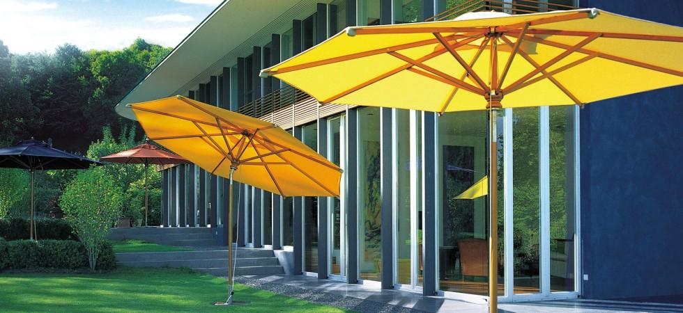 LEEM Wonen outdoor trends Fischer Möbel parasols