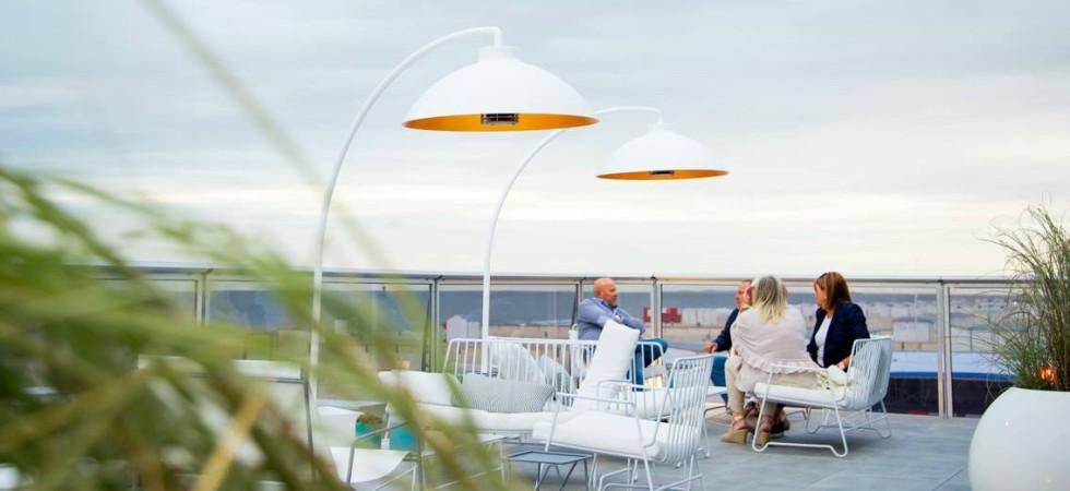 LEEM Wonen terrasheater Dome beach club