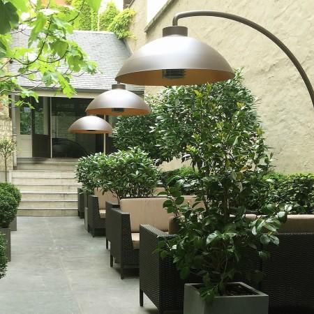 LEEM Wonen terrasheater Dome restaurant