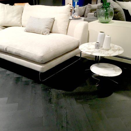 LEEM Wonen ETC Expo vloer hout zwart