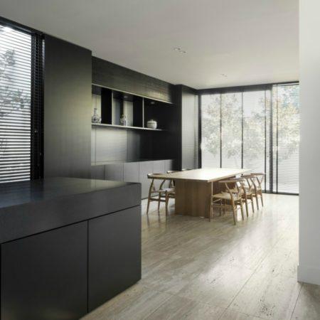 LEEM Wonen raamdecoratie houten lamellen zwart