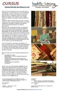Issabella van Baaren CURSUS VERANTWOORD MATERIAALPLAN