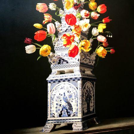 LEEM WONEN Kunst & Antiek weekend Delfts Blauw tulpenvaas