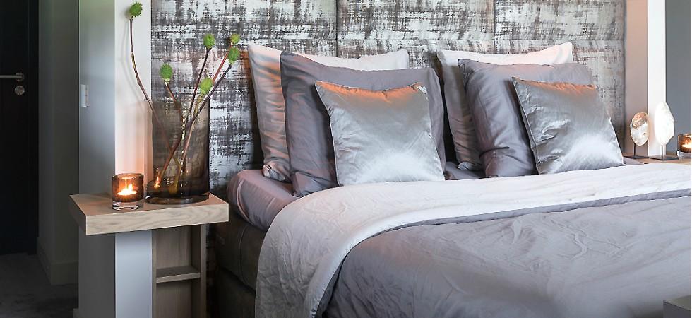LEEM WONEN Versteegh-Design rietgedekte villa Zeeland slaapkamer