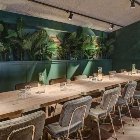 LEEM WONEN Restaurant Meddens botanical wall