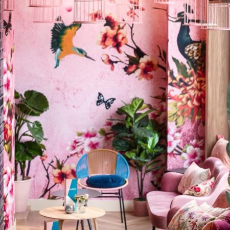 LEEM WONEN Restaurant Meddens tropical walldesign