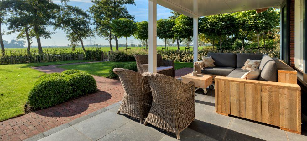 LEEM WONEN villa Nieuw Lekkerland tuin