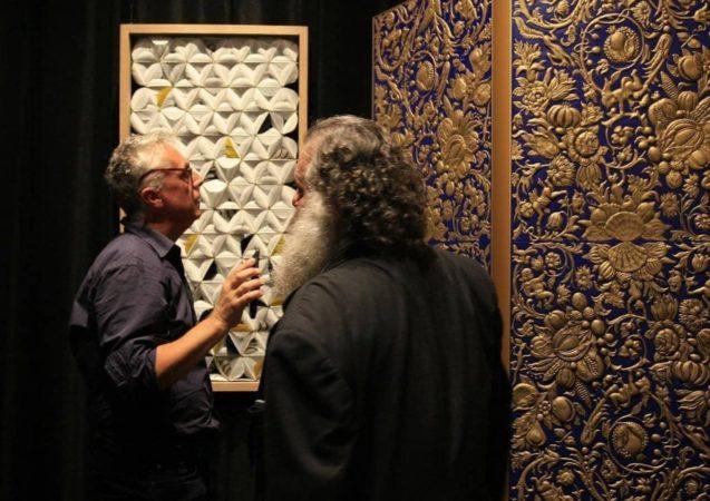 LEEM WONEN Goudleer-atelier Van Soest room divider