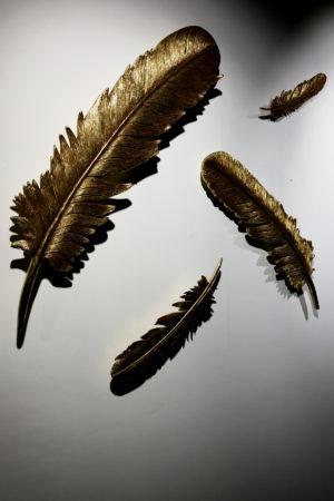 LEEM WONEN ETC Winter Wonderland feathers