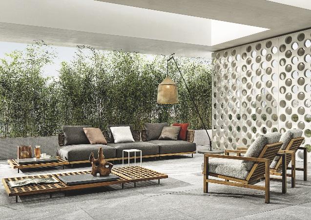 Minotti Quadrado lounge