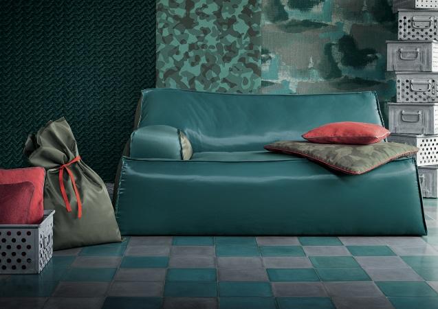 LEEM WONEN trend groen sofa