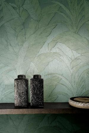 LEEM WONEN trend groen wallpaper