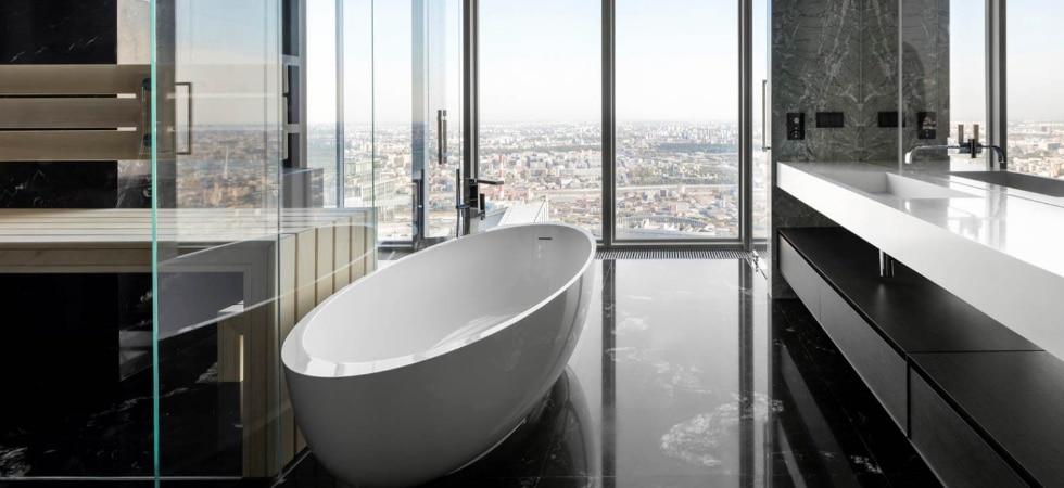 LEEM WONEN Minotti Oko Tower Moscow bathroom