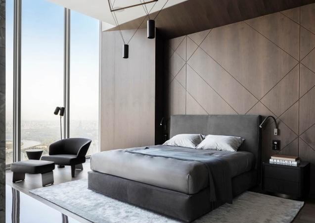 LEEM WONEN Minotti Oko Tower Moskow bedroom